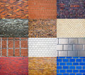 Brickwall collection Royalty Free Stock Photo