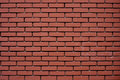 Brickwall new red with black seams Royalty Free Stock Photo