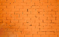 Brickwall pattern texture in orange color Royalty Free Stock Image