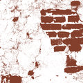 Brickwork, brick wall of an old house, brown and white grunge texture, abstract background. Vector Royalty Free Stock Photo