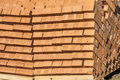 Brickwork on the market cool folded in a special way Royalty Free Stock Photography