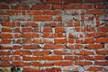Brickwork old red wall with mortar as construction industry pattern texture background Stock Image
