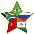 Brics symbol of the association of emerging national economies brazil russia india china south africa Royalty Free Stock Photo