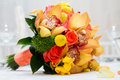 Bridal bouquet bouquets made with roses and orchid Stock Image