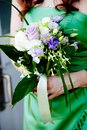 Bridal Bouquet of Flowers Stock Photo