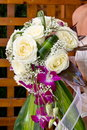 Bridal bouquet made from roses Royalty Free Stock Photography