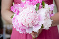 Bridal Bouquet of pink Flowers Royalty Free Stock Photography