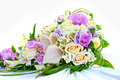 Bridal bouquet with roses and colored flower Royalty Free Stock Photography