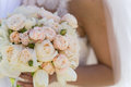 Bridal bouquet of roses and tulips Royalty Free Stock Photo