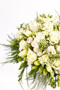 Bridal bouquet on the white Stock Photography