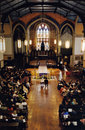 Bridal ceremony at a Church Stock Image