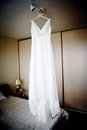 Bridal dress beautiful white wedding ready for bride Royalty Free Stock Image