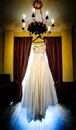 Bridal dress beautiful white wedding ready for bride Royalty Free Stock Photos