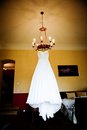 Bridal dress beautiful white wedding ready for bride Stock Photography