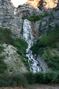 Bridal falls close up of i provo utah Stock Images