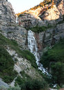 Bridal falls in utah pro is feet tall and is a double cataract waterfall Royalty Free Stock Image