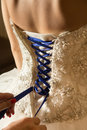 Bridal gown rear view