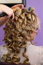 Bridal Hair Styling Royalty Free Stock Photography