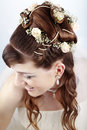 Bridal hairstyle Stock Photo