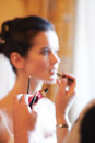 Bridal make-up in the morning Royalty Free Stock Photos
