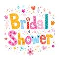 Bridal shower card lettering decorative type design