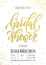 Bridal Shower invitation card template.