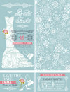 Bridal shower invitations.Winter wedding.Dress