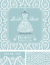 Bridal shower invitations.Winter wedding ornament