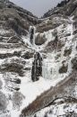 Bridal Veil Falls in Winter Royalty Free Stock Photos