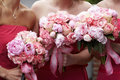 Bridal wedding flowers and bouquets Stock Photo