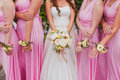 Bridal wedding flowers Royalty Free Stock Photo