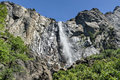 Bridalveil fall yosemite in national park one of the most prominent waterfalls in the valley in california Stock Photo