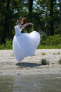 image photo : Bride on a beach