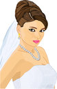 Bride beautiful girl in white dress Royalty Free Stock Photography