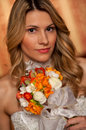 Bride with boquet Royalty Free Stock Photo