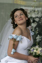 Bride with a bouquet Stock Images