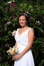 Bride with bouquet Stock Photography