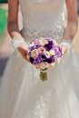 The bride with a bouquet Stock Photography