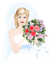 Bride with a bouquet Royalty Free Stock Photography