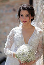 Bride with bridal bouque Royalty Free Stock Photo