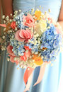 Bride or bridemaid with bouquet Royalty Free Stock Photo