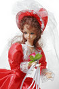Bride doll in a red dress