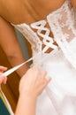Bride dress tie
