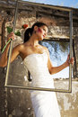 Bride is Framed Royalty Free Stock Image