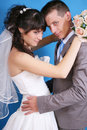 The bride and groom Stock Photography