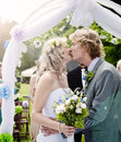 Bride groom beautiful wedding venue nature Royalty Free Stock Photography