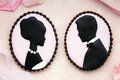 Bride and groom cookies Stock Photo