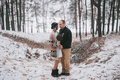 Bride and groom hugging Royalty Free Stock Photo