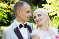 Bride and groom, portrait Royalty Free Stock Photo