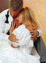 Bride and groom romance Royalty Free Stock Photo